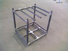 telaio acciaio inox, foratura, saldatura